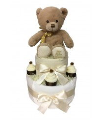 My First Teddy 2 Tier Nappy Cake