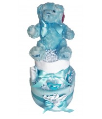 The Bear Necessities Nappy Cake - Blue or Pink