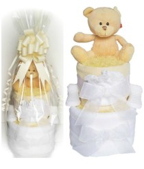A Babylicious Nappy Cake - Beige, Pink or Blue