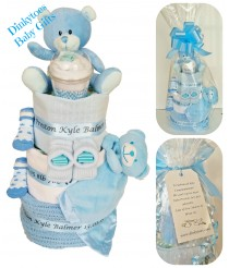 Cuddle Time Nappy Cake - Pink, Blue or Cream