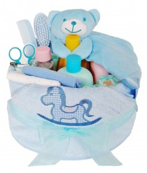 Rub-a-Dub-Dub Nappy Cake with Johnson's Pink, White or Blue