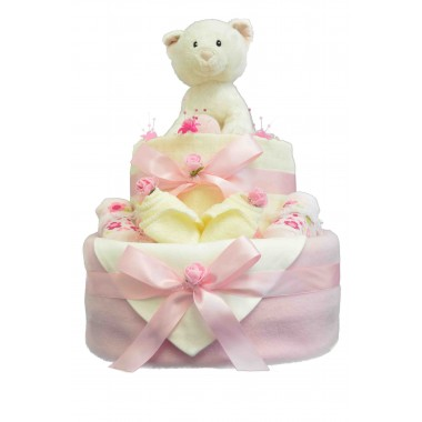 Kitten Cuddles 2 Tier Nappy Cake