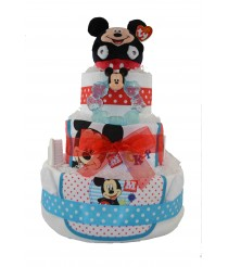 Three Tier Nappy Cake With Mickey Mouse