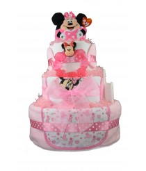 Three Tier Nappy Cake With Minnie Mouse