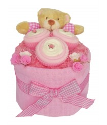 Baby Sock Cupcake Nappy Cake - Pink or Blue