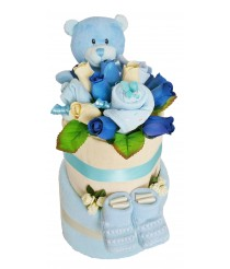Baby Surprise Nappy Cake - Pink or Blue
