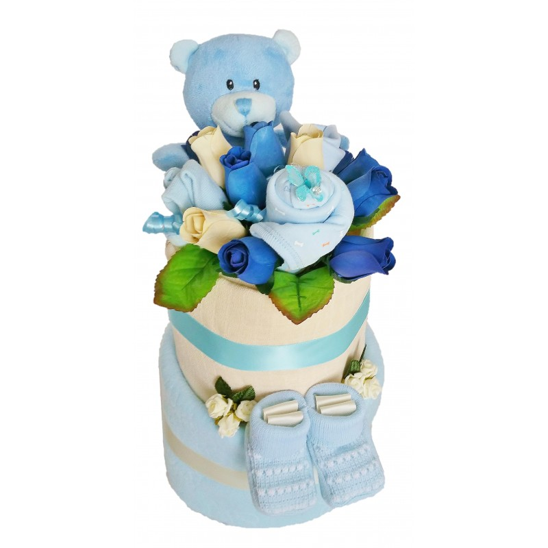 Baby surprise nappy cake pink or blue nappy cakes and baby gifts baby surprise nappy cake pink or blue negle Choice Image