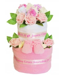 A Secret Garden Nappy Cake