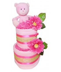 Blossom Nappy Cake - Pink, Blue or Cream