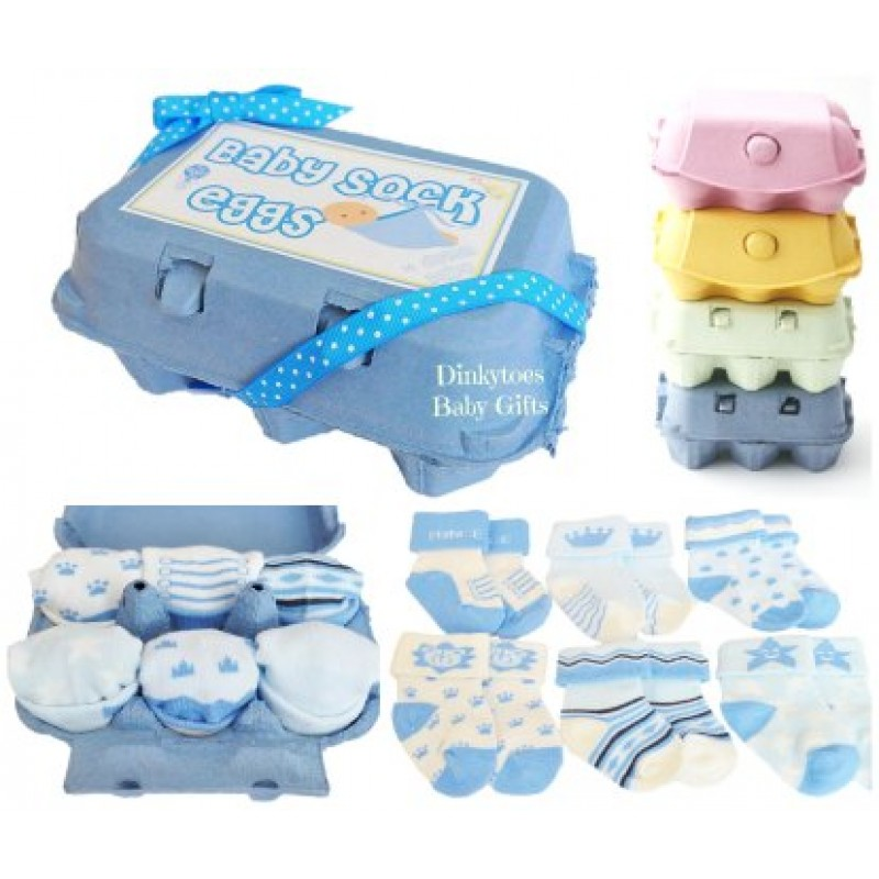 Baby sock eggs nappy cakes and baby gifts uk dinkytoes baby sock eggs negle Image collections