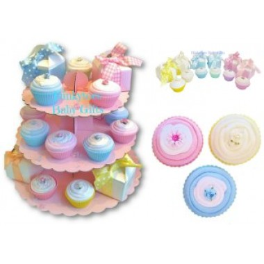 Easter baby sock cupcake nappy cakes and baby gifts uk dinkytoes easter baby sock cupcake negle Gallery