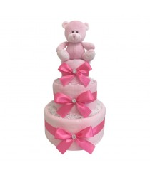 Dinky Darlings- Pink - 3 Tier Nappy Cake