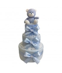 Dinky Darlings - Blue - 3 Tier Nappy Cake