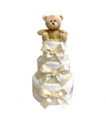 Dinky Darlings - Neutral - 3 Tier Nappy Cake