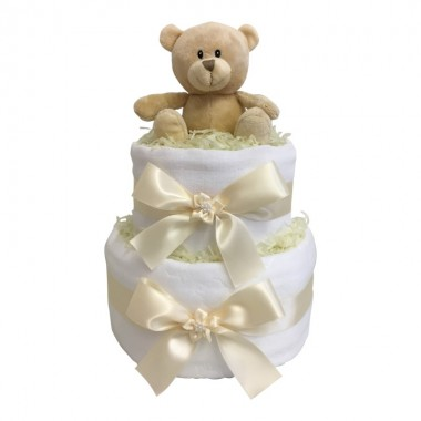 Dinky Darlings - Neutral - 2 Tier Nappy Cake