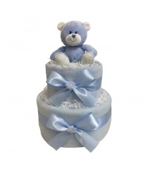Dinky Darlings - Blue - 2 Tier Nappy Cake