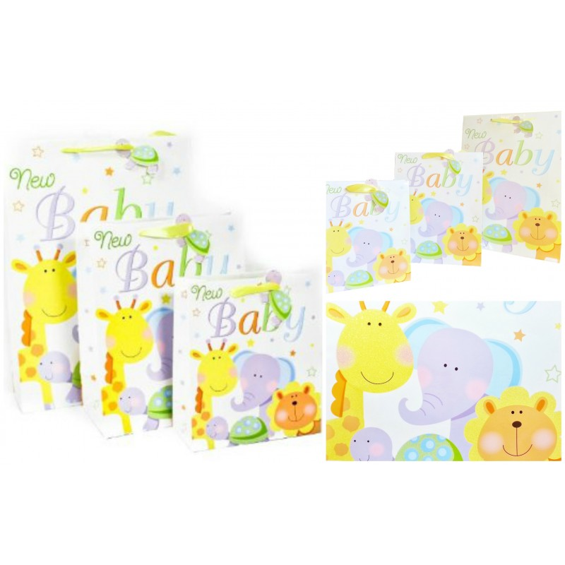Baby Gift Bags Uk : New baby zoo animals gift bags nappy cakes and