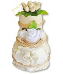 Coffee & Cream Deluxe Nappy Cake