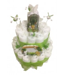 Jungle Nappy Cake With Lights