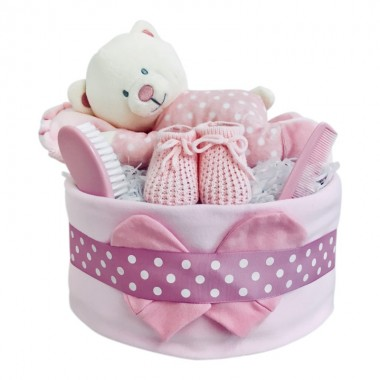 Time for a Nap - Pink Nappy Cake