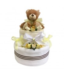 Little Brown Bear 2 Tier Nappy Cake