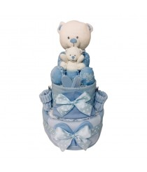 Baby Bear with Teddy - Blue
