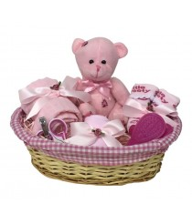 Teddy Hamper - Pink